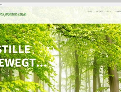 Meine Webseite www.kt-praxis.ch ist online.